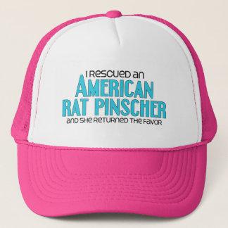 I Rescued an American Rat Pinscher (Female Dog) Trucker Hat
