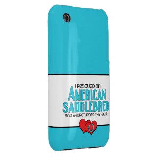 I Rescued an American Saddlebred (Female Horse) iPhone 3 Cover