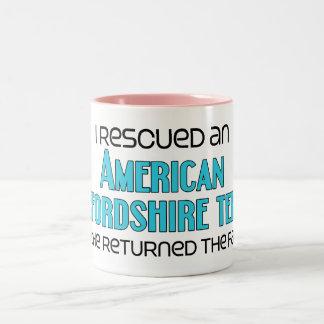 I Rescued an American Staffordshire (Male Dog) Two-Tone Coffee Mug