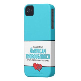 I Rescued an American Thoroughbred (Female Horse) Case-Mate iPhone 4 Case