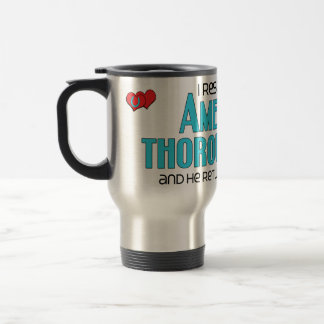 I Rescued an American Thoroughbred (Male Horse) 15 Oz Stainless Steel Travel Mug