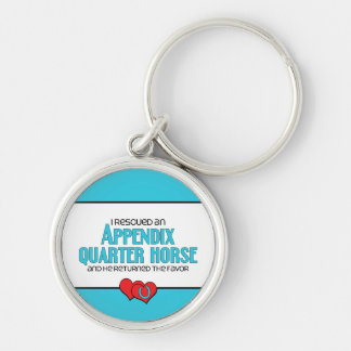 I Rescued an Appendix Quarter Horse (Male Horse) Keychain