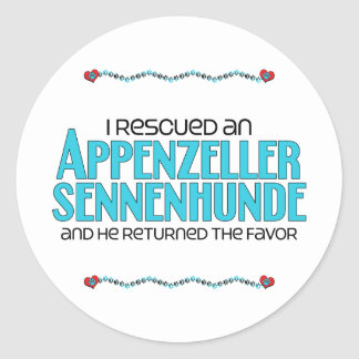 I Rescued an Appenzeller Sennenhunde (Male Dog) Sticker