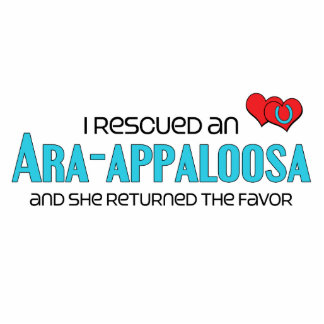 I Rescued an Ara-Appaloosa (Female Horse) Acrylic Cut Outs