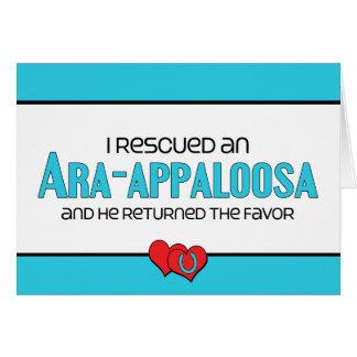 I Rescued an Ara-Appaloosa (Male Horse) Card