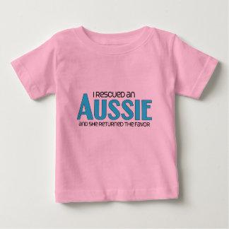 I Rescued an Aussie (Female Dog) Baby T-Shirt