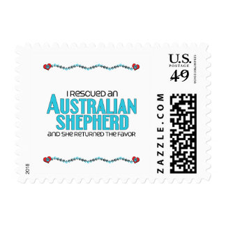I Rescued an Australian Shepherd (Female Dog) Postage Stamp