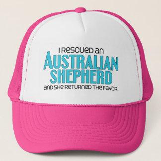 I Rescued an Australian Shepherd (Female Dog) Trucker Hat