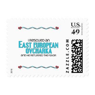 I Rescued an East European Ovcharka (Male Dog) Stamp