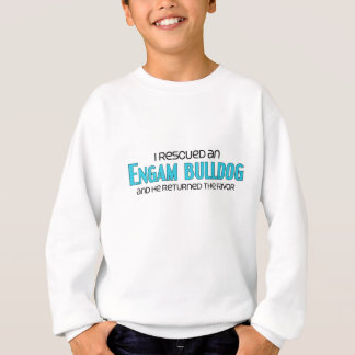 I Rescued an EngAm Bulldog (Male) Dog Adoption Sweatshirt