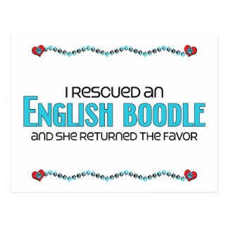 I Rescued an English Boodle (Female) Dog Adoption Postcard