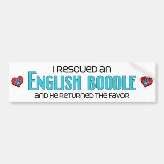 I Rescued an English Boodle (Male) Dog Adoption Bumper Sticker