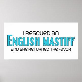 I Rescued an English Mastiff (Female Dog) Poster
