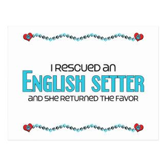I Rescued an English Setter (Female Dog) Postcard