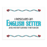 I Rescued an English Setter (Male Dog) Postcards
