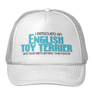 I Rescued an English Toy Terrier (Female Dog) Mesh Hats