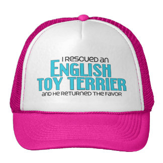 I Rescued an English Toy Terrier (Male Dog) Mesh Hats