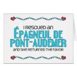 I Rescued an Épagneul de Pont-Audemer (Female Dog) Card