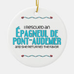 I Rescued an Épagneul de Pont-Audemer (Female Dog) Christmas Ornament