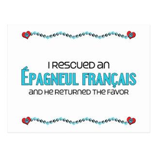 I Rescued an Épagneul Français (Male Dog) Postcard