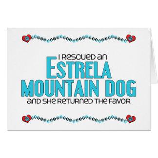 I Rescued an Estrela Mountain Dog Female Dog Greeting Cards