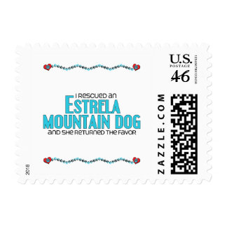 I Rescued an Estrela Mountain Dog Female Dog Postage Stamp
