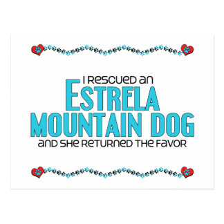 I Rescued an Estrela Mountain Dog Female Dog Postcards