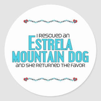 I Rescued an Estrela Mountain Dog (Female Dog) Sticker