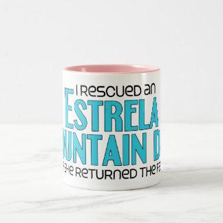 I Rescued an Estrela Mountain Dog (Female Dog) Two-Tone Coffee Mug
