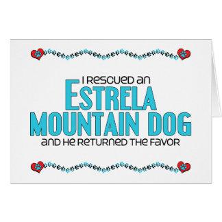 I Rescued an Estrela Mountain Dog Male Dog Greeting Card