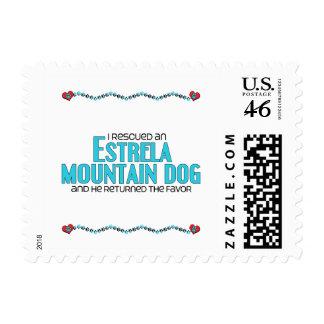 I Rescued an Estrela Mountain Dog Male Dog Postage Stamp