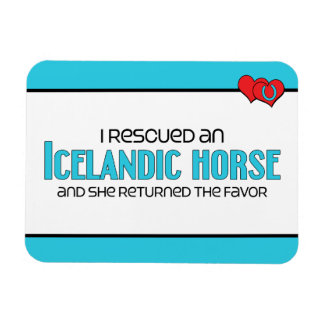 I Rescued an Icelandic Horse (Female Horse) Magnet