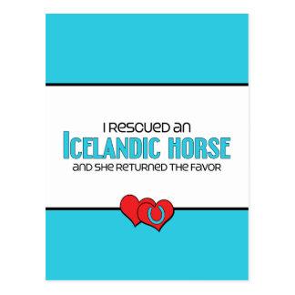 I Rescued an Icelandic Horse (Female Horse) Postcard
