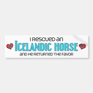 I Rescued an Icelandic Horse (Male Horse) Bumper Sticker