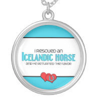 I Rescued an Icelandic Horse (Male Horse) Custom Necklace