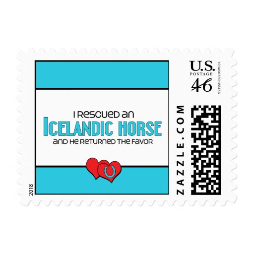 I Rescued an Icelandic Horse (Male Horse) Postage Stamp