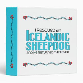 I Rescued an Icelandic Sheepdog (Male Dog) 3 Ring Binder