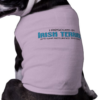 I Rescued an Irish Terrier (Female Dog) Doggie T-shirt