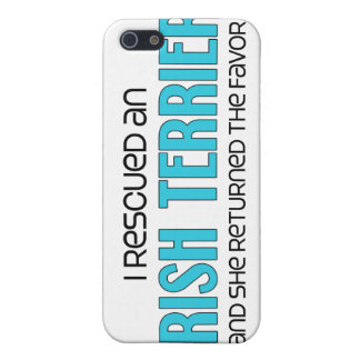 I Rescued an Irish Terrier (Female Dog) Cover For iPhone 5