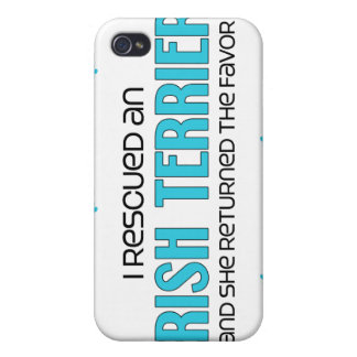 I Rescued an Irish Terrier (Female Dog) Cover For iPhone 4