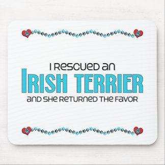 I Rescued an Irish Terrier (Female Dog) Mouse Pad
