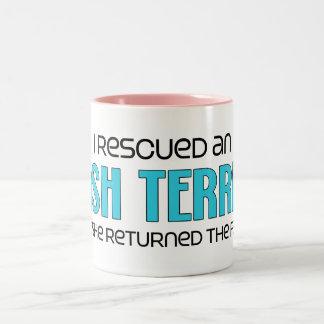 I Rescued an Irish Terrier (Female Dog) Two-Tone Coffee Mug
