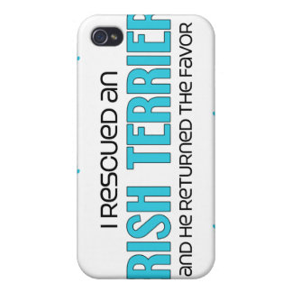 I Rescued an Irish Terrier (Male Dog) Cases For iPhone 4