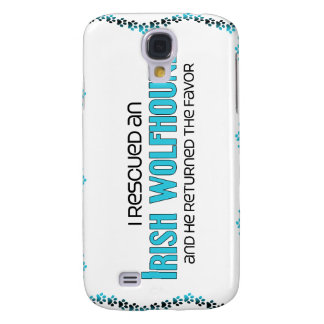 I Rescued an Irish Wolfhound (Male Dog) Samsung Galaxy S4 Cover