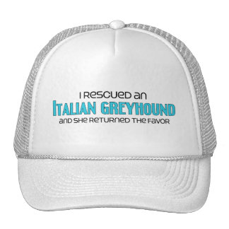 I Rescued an Italian Greyhound (Female Dog) Mesh Hat