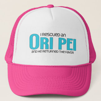 I Rescued an Ori Pei (Male) Dog Adoption Design Trucker Hat