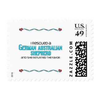 I Rescued German Australian Shepherd (Female Dog) Stamps