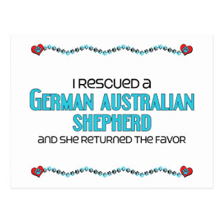 I Rescued German Australian Shepherd (Female Dog) Postcard