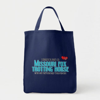 I Rescued Missouri Fox Trotting Horse (Male Horse) Canvas Bag