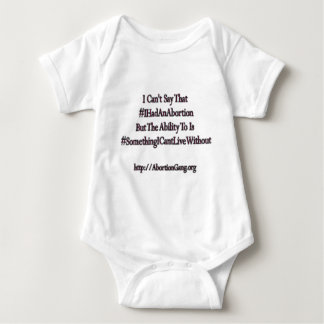 I Reserve The Right To Say #IHadAnAbortion Baby Bodysuit